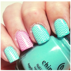 cute summer nails stamping