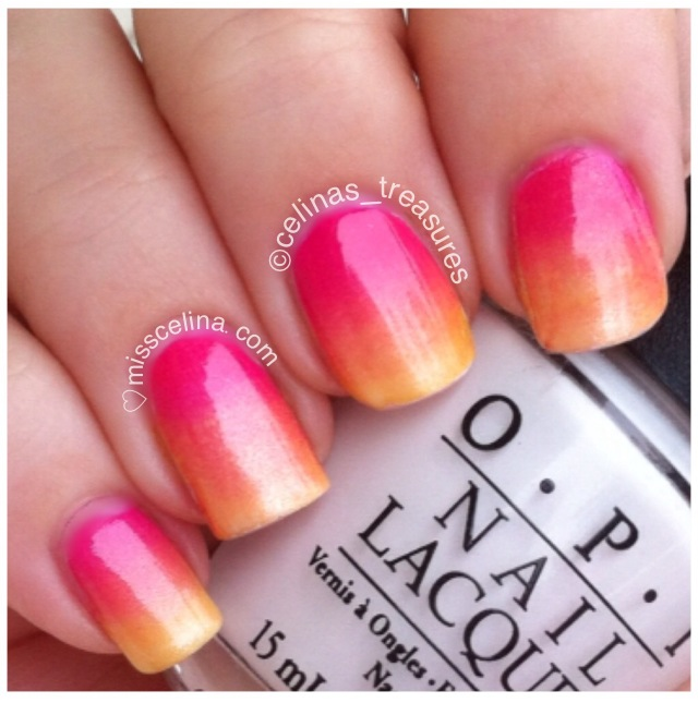 Gradient nails | MissCelina nail art